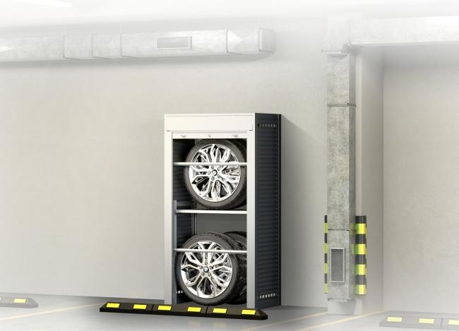 Шкаф для колес в паркинг 2000х1100х600