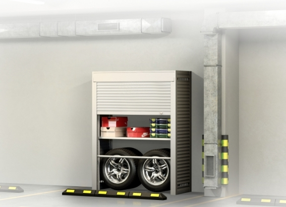 Шкаф для колес на парковку 2000х1700х600