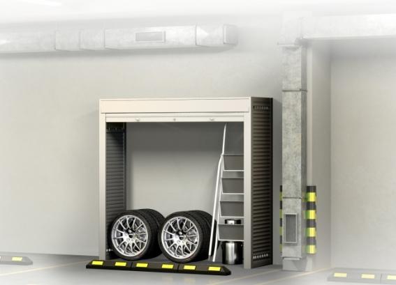 Шкаф с роллетами в паркинг 2000х2100х600