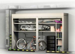 Шкафы в паркинг с рольставнями