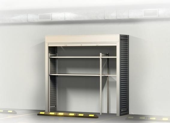 Шкаф в подземный паркинг с рольставями 2400х2200х600